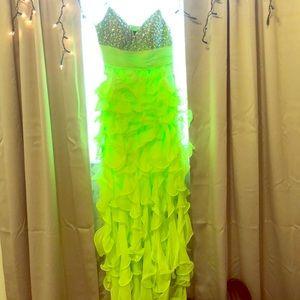 Neon Green maxi dress